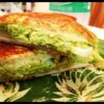 "When Hugh was asked about the best thing I ever cooked for him as part of a bridal shower game, I did not expect him to answer ""sandwiches."" But this pepper jack grilled cheese with smashed avocado was pretty excellent, so I guess I understand where he's coming from."